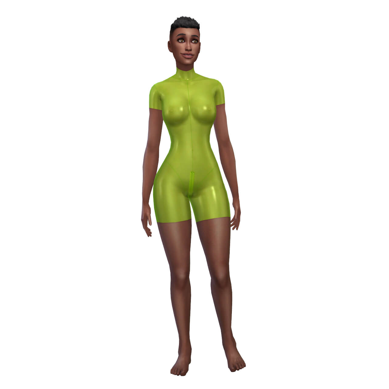 Latex Singlet 10 Bodysuit with Zipper