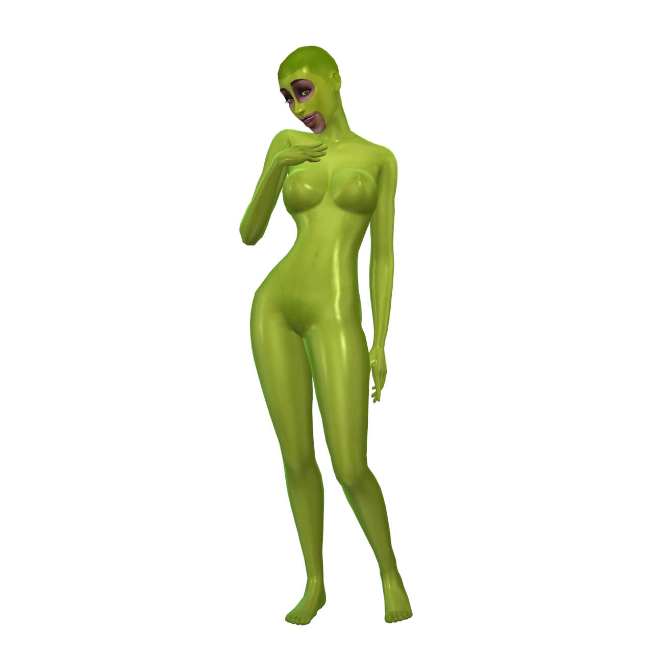 Latex Basic Suit with Mask 2