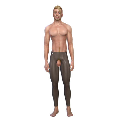 Latex Codpiece Leggings